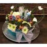 "Geboorte bloemen-taart ''Sem"" vanaf €25,00"
